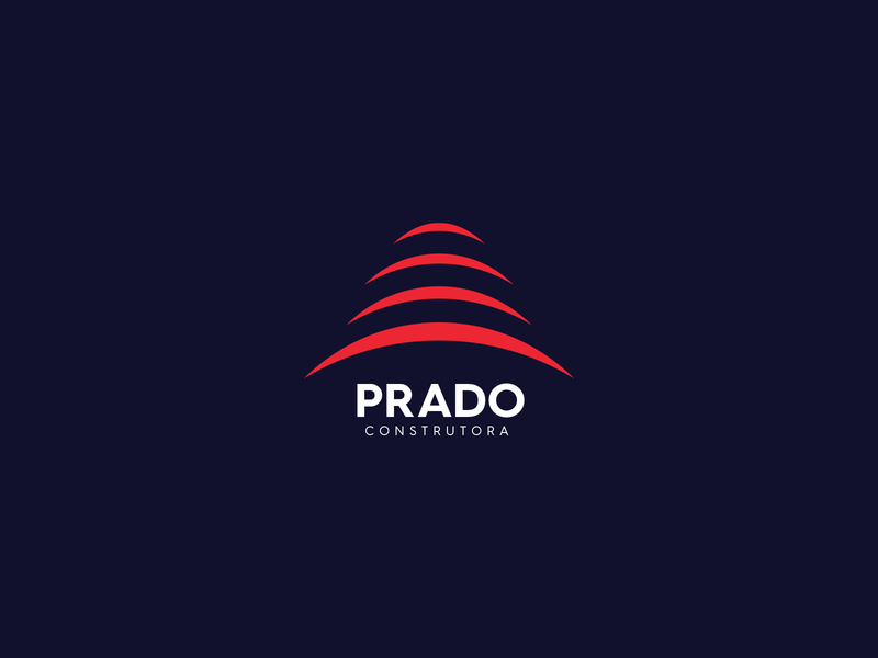 Prado Construtora company construction prado logo design vector branding logo loyall