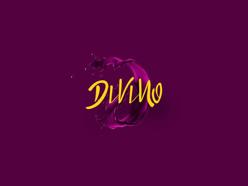 Divino Açaí illustration branding logotype script handmade lettering creative design logo loyall wonderful divino açaí açai