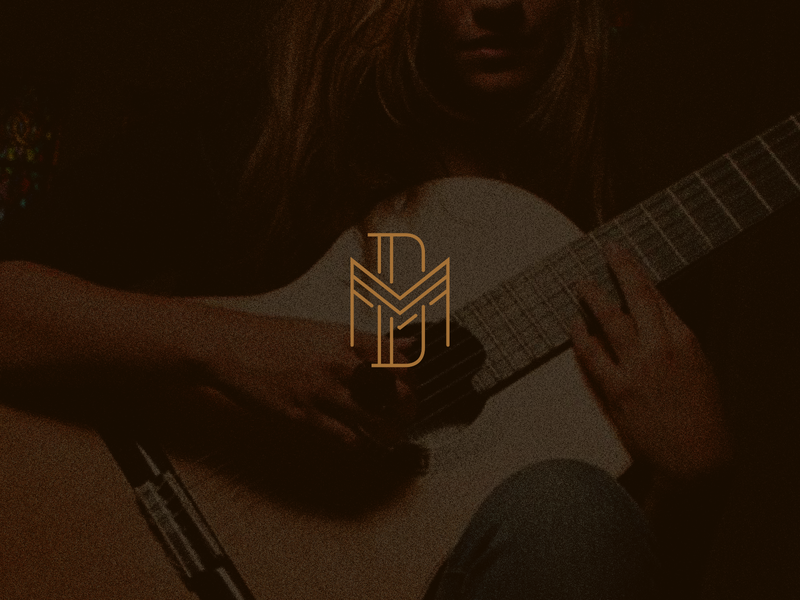 Débora Mavignier guitar monogram logotype branding design logo loyall artist musician