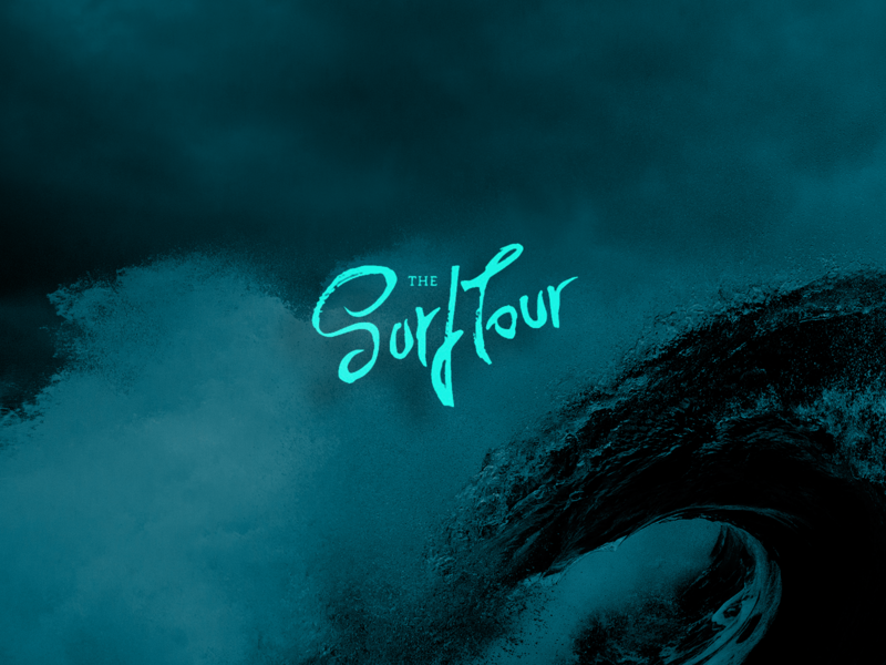 The SurfTour typography creative handmande logotype branding design logo loyall lettering bro school sea wave surf