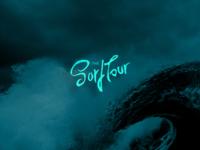 The SurfTour typography creative handmande logotype branding design logo loyall lettering bro school sea wave surf