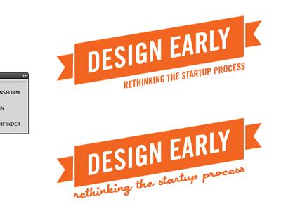 Design early logo quote illustrator designearly