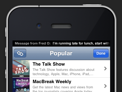 Notification idea for iOS 5 ios iphone notifications sms mockup