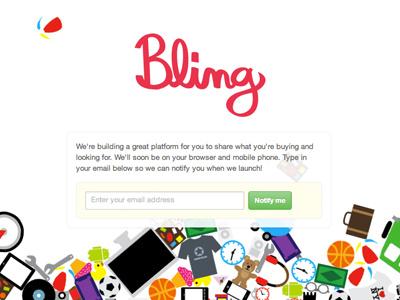 Bling splash page bling objects splash