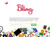 Bling splash page