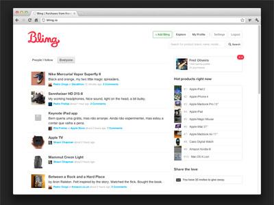 Bling - Timeline bling timeline