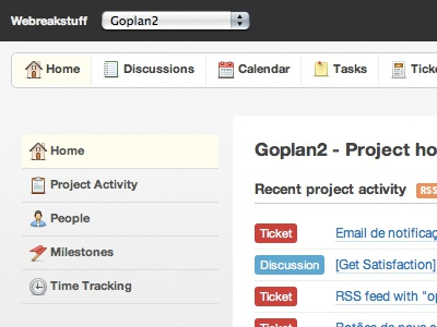 Goplan2 Redesign design web rails projectmanagement app