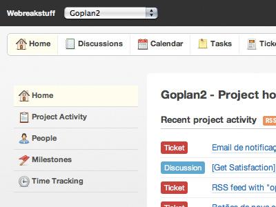 Goplan2 Redesign design web rails projectmanagement app