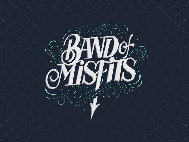Band of Misfits logotype creative artwork branding hand lettering calligraphy illustration design typography lettering