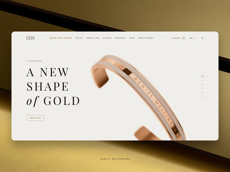 Daniel Wellington online store clean ui web website design ui