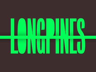 LONGPINES Brand Concept book cover sci-fi dark neon logotype wordmark brand branding design