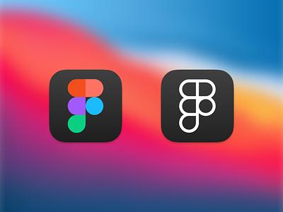 Fig Sur — Figma icons for macOS mac figma branding brand icons macos icon