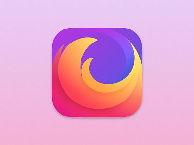 Firefox Icon for macOS Big Sur macos mac iconography icons icon brand firefox