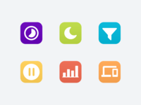 Circle Global Icons
