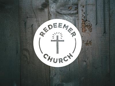 Redeemer Church (PDX) Logo branding brand white mark typeface gotham church logomark logo