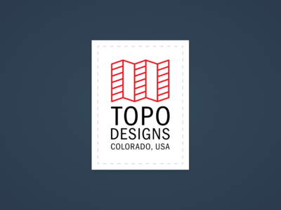 Topo Designs Patch Detail logo brand branding icon patch topo designs figma vector design illustration