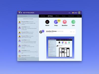 Keyframes App for macOS feedback design ui electron app macos