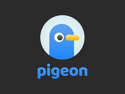 Pigeon Branding logomark wordmark typography branding logo design icon brand