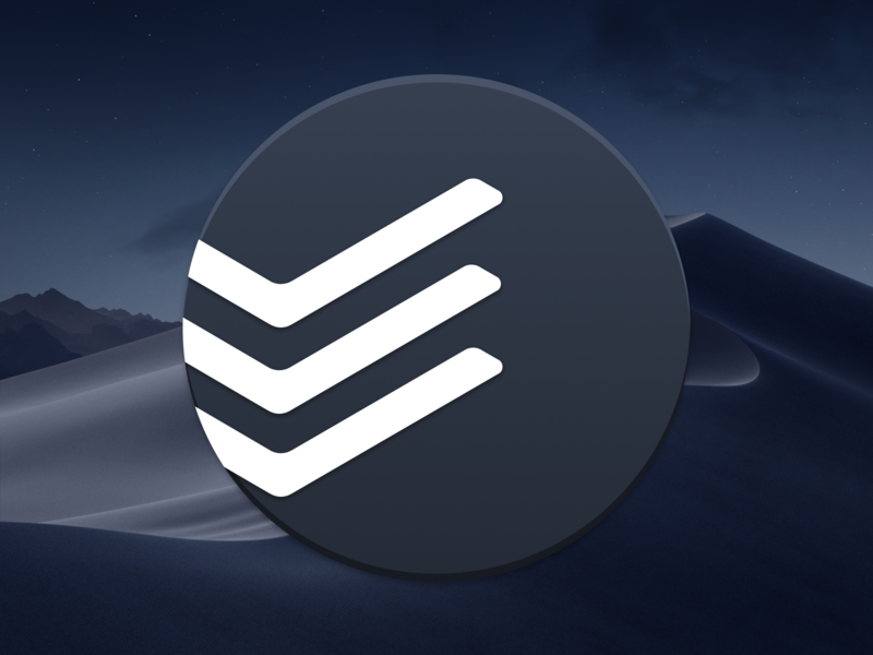 Todoist Dark Mode Icon for macOS mac dock ui dark mojave gtd tasks todoist macos icon brand design