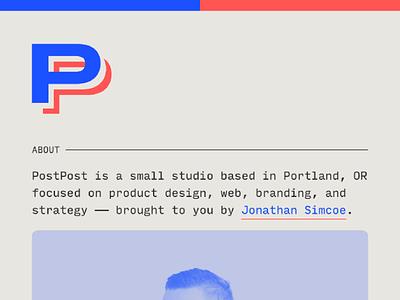 The new PostPost website postpost input mono typography gatsby front end web design figma design