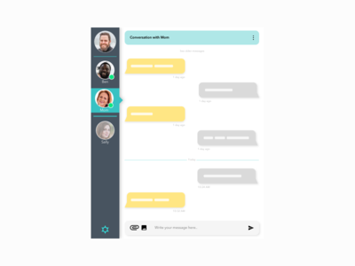 Daily UI Challenge #013 - Instant Messaging