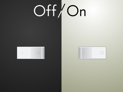 Daily UI Challenge #015 - On/Off Switch toggle switch off on dailyui daily challenge app 015