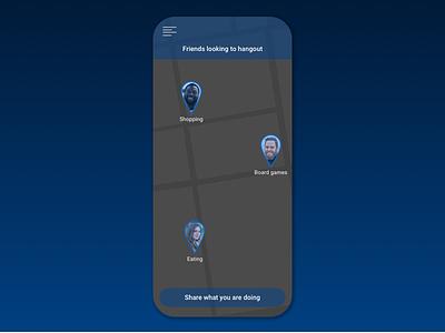 Daily UI Challenge #020 - Location Tracker web maps map location mobile illustration dailyui daily challenge app 020