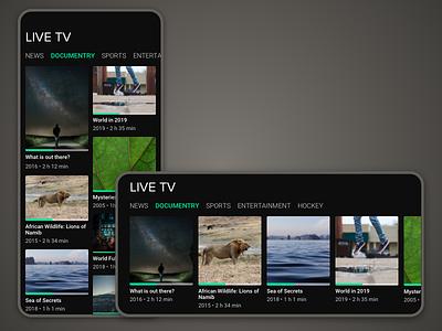Daily UI Challenge #025 - TV App grid layout mobile netflix tv design daily ui 25 daily ui dailyui daily challenge app
