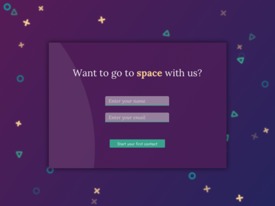 Daily UI Challenge #028 - Contact Us