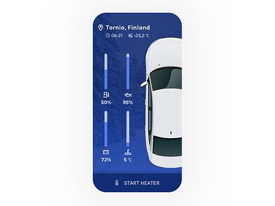 Car User Interface product icon colors flat color winter blue ui car mobile app 3d 2d