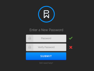 New Password password login submit form portal web