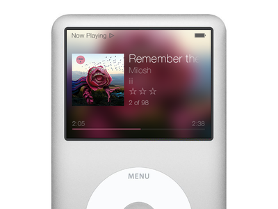 iPod Classic iOS 7 Re-Design ipod classic ipod classic ios7 redesign apple mp3 music player