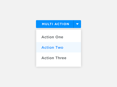 Multi Action Button button dropdown web ui
