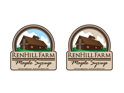 Maple Syrup Label Progress: Color Options