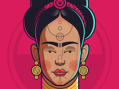 Frida african illustration fridakahlo frida kahlo character design flat illustration vector illustration illustration