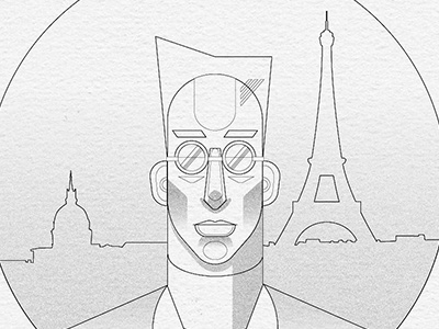 A Brother In Paris vector concept art illustration