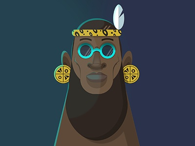 Long Live The Chief african illustration vector print