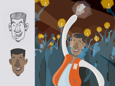 Character Design: The Life Of The Party flat illustration vector illustration character design