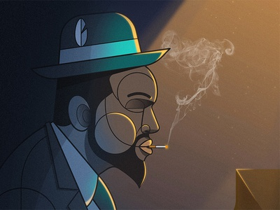 After Midnight thelonious monk print design vector illustration