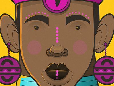 Indlovukazi (The Queen) adobe illustrator flat illustration vector illustration
