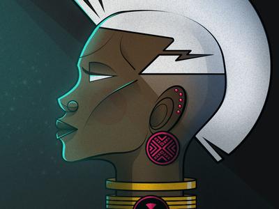 African X-Men adobe illustrator digital illustration flat illustration vector illustration