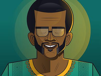 Oliver Reginald Tambo: Celebrating 100 Years vector lighting flat illustration african illustration