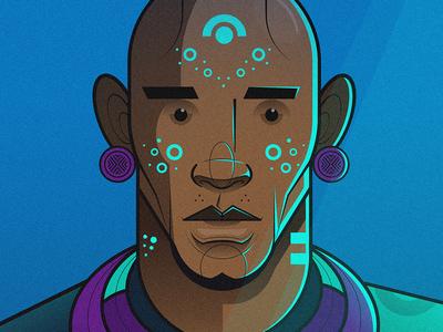 Ingwe 01 flat illustration illustration africa african charactedesign vector art