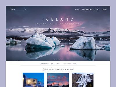 Landing Page web design categories travel photos flat landing web