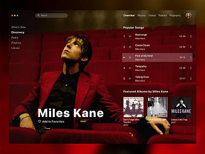 Apple Music Redesign / Miles Kane song tidal spotify album artist miles kane mac os itunes player music apple