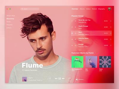 Apple Music Redesign / Flume
