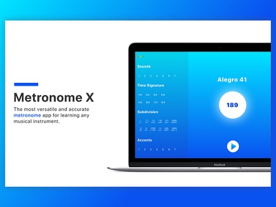 Metronome X tempo learn notes gradient itunes connect sound record piano guitar instruments music metronome