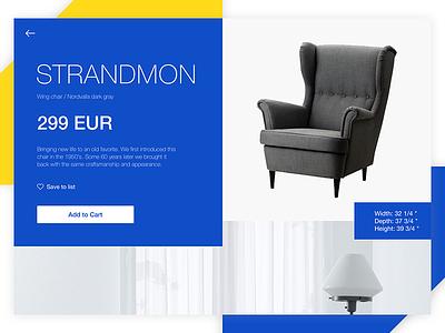 IKEA: Details Page product interior shop web design retail e-commerece furniture ikea