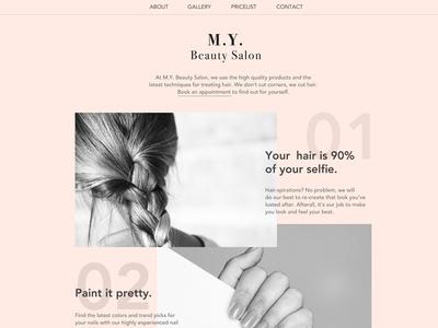 Minimalist Beauty Salon Website
