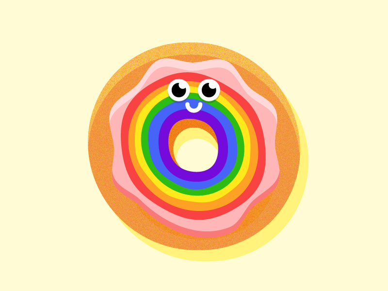 Pride Donut 🌈🍩 lgbt donut rainbow national donut day equality love is love happy pride pride